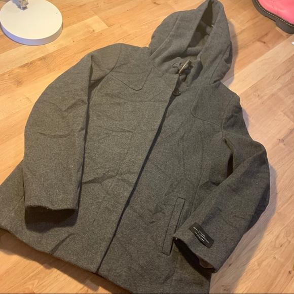Babaton short Pearce coat sz m grey